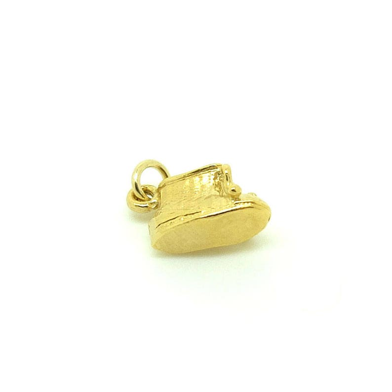 Shoe Charm 1960s Baby Boot Charm Necklace Vintage Charms Gold Plated Charm Necklace Gift for Mothers Vintage Gold Baby Charm