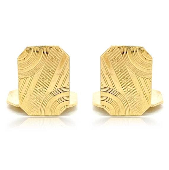 FREEPOST 9 Carat Gold Cufflinks Vintage 1960s Gold Cufflinks 8.9g Gold Cuff Links