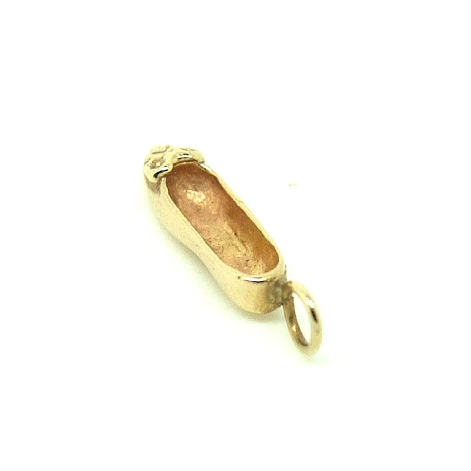 vintage charm necklace   1960s gold charm   ballet shoe   charm necklace   delicate gold necklace   dancing charm