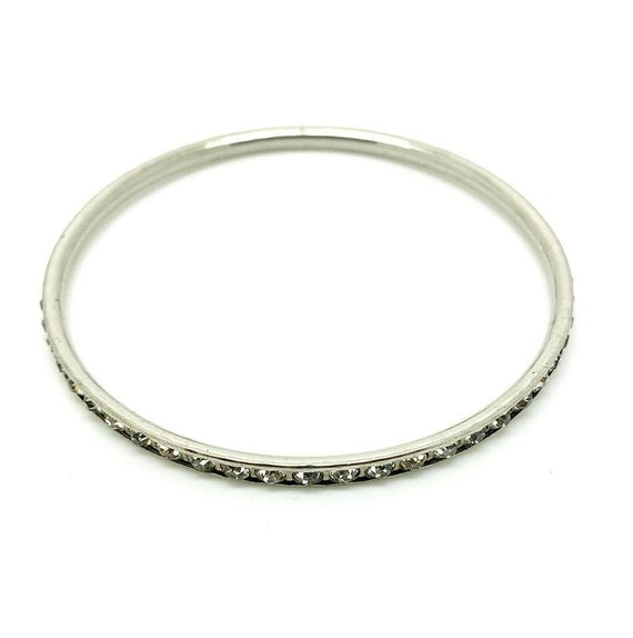 Vintage 1950s Silver Upper Arm Cuff Bracelet