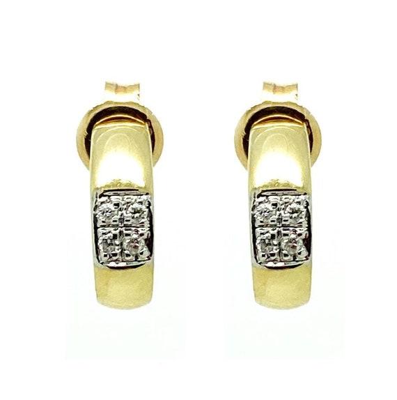 Vintage 1970s 9ct Gold Hoop Stud Earrings