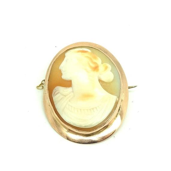 Antique Victorian Brooch | Cameo Brooch | 9ct Ros… - image 6