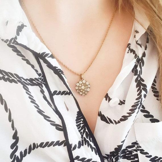 Antique Victorian Heart Necklace   Paste Heart   … - image 2