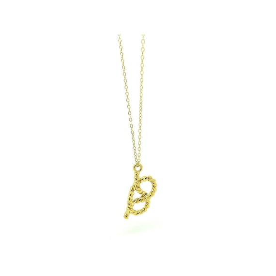 Vintage Gold Charm | Rope Charm Necklace | Gold Pl