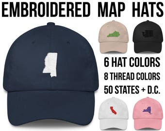 2aec5b58d6d Mississippi Hat Mississippi Cap Mississippi Baseball Hat Mississippi  Baseball Cap Mississippi Gifts Mississippi Native Mississippi Outline