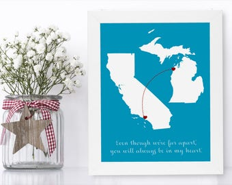 Mom From Son To Gifts Birthday Gift For Christmas Map