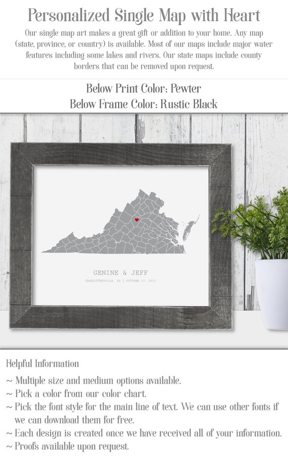West virginia map state of west virginia wall art frame canvas | etsy.