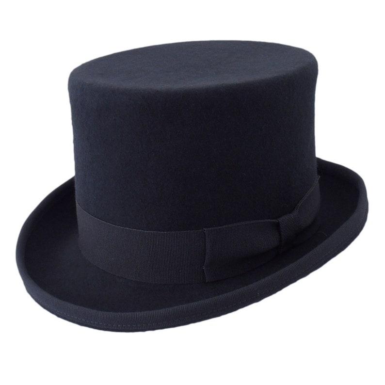 Melegari wool felt Top Hat handmade