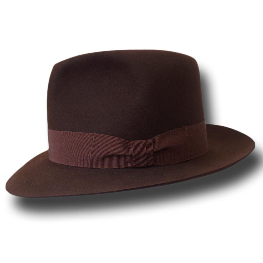 9720d82ef6550 Melegari Indiana Jones Fedora replica Hat handmade