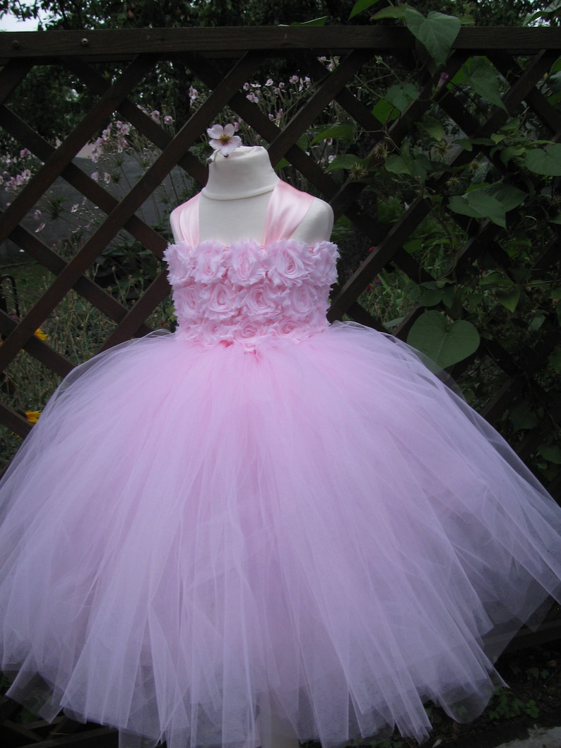 Baby Pink Tulle Dress First Birhtday Outfit Girls Birthday