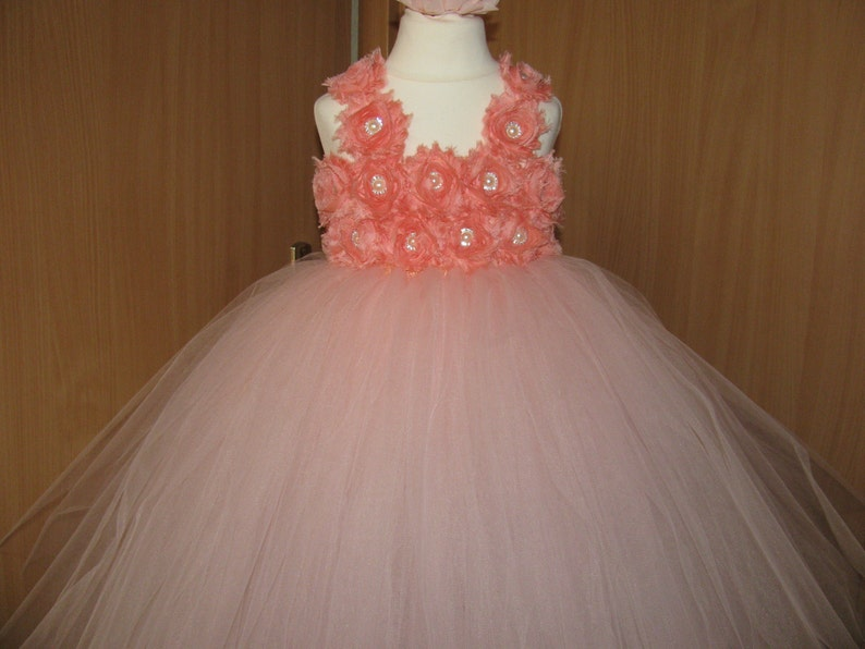 dc541a84a Flower Girl Dress Blush Dress Tulle First Birhtday Outfit   Etsy