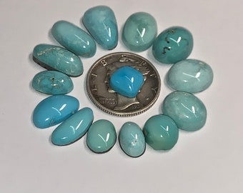 old stock material pre 1990 stock Nevada Waterweb Turquoise Cabochon