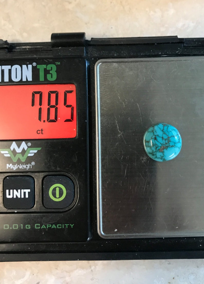 Classic Lone Mountain Spiderweb Turquoise Cabochon Gem Turquoise old stock material hand made AAAA Gem Grade rare