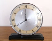 Stunning Smiths Sectric electric clock, Bakelite and chrome plated dial frame, Deco style, Exdale