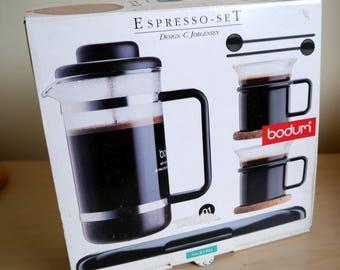 1980's Bodum Espresso Set K1503, French press