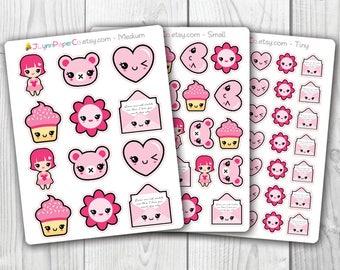 Pink Kawaii Stickers AV004