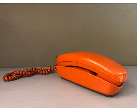 Mid-Century Vintage Dial Tone Orange Phone