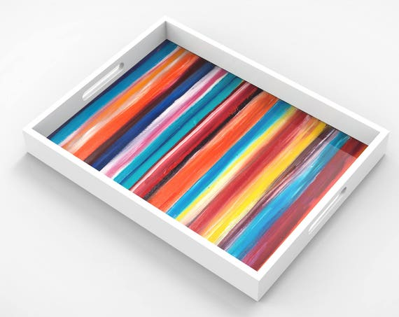 "Lacquer Trays by Bruce Mishell titled ""Tutti - Fruti"""