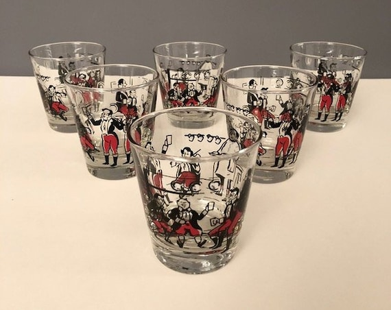 Vintage Mid-Century Shot Glass - Set of 6