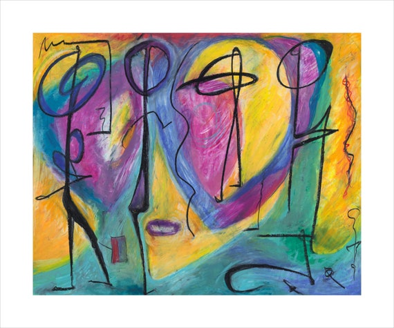 """Contemporary giclee print by """"Bruce Mishell"""" title: """"Myra"""""""