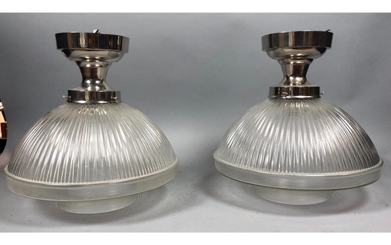 Urban Archaeology Industrial Ceiling Lights, a Pair