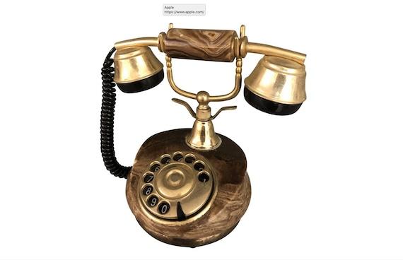 Italian Mid Century Marble Dial Phone