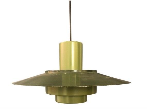 Vintage Danish Mid-Century Modern Style Green Pendant Lamp