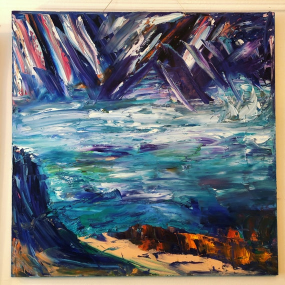 "Bruce Mishell ""Ice Castles""  ""20 x 20"" inches gicle print."