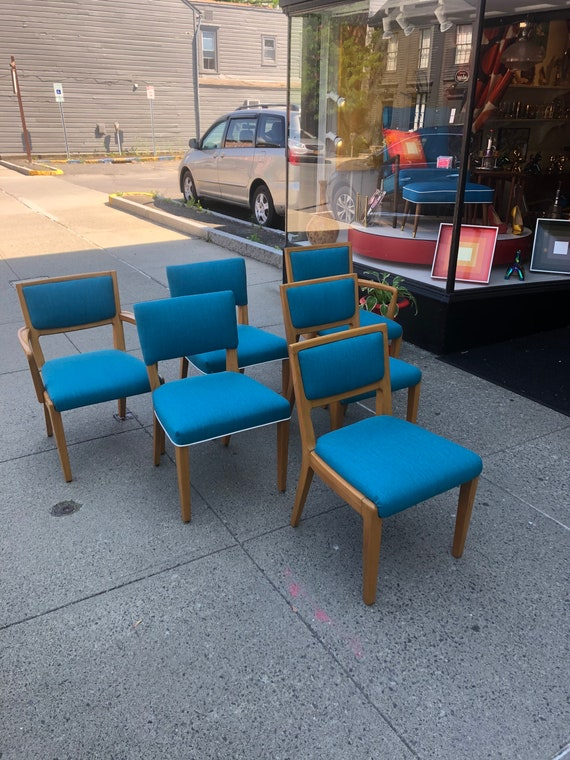 Mid-Century Set of 6 Edward Wormley, Drexel Precedent Chairs