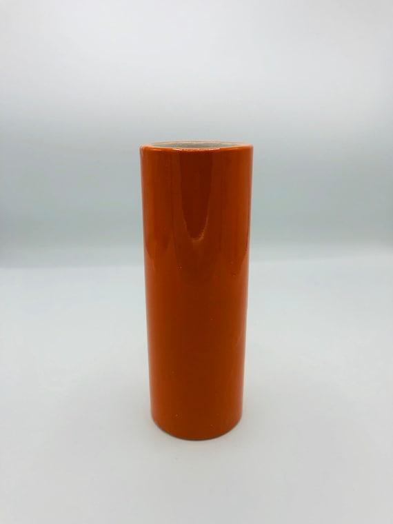 1960's Mid-Century ceramic orange Vase made in Japan by ATC co.