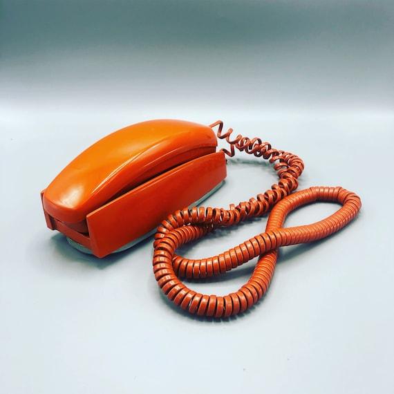Mid century orange dial phone 1970's