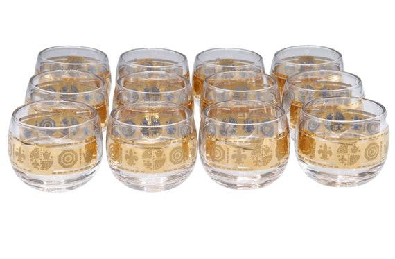 Mid-Century set of 8 low tumbler glass