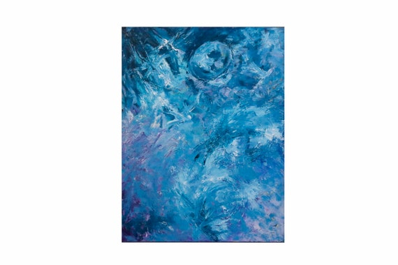 """Oil on Canvas by Bruce Mishell Titled """"Blue Moon"""""""