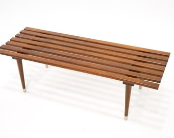 Mid-Century Coffee table or bench. Marked Yugoslavia