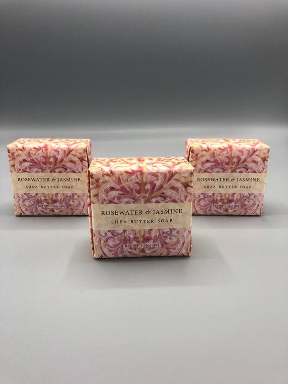 Rosewater & Jasmine shea butter Bar soap 6.35oz