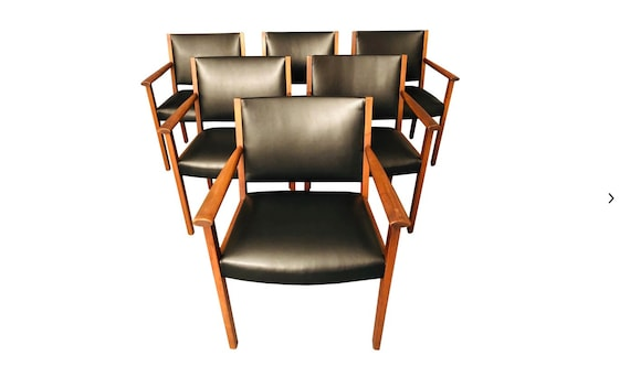 Mid-Century Gunlock Dining Chairs- Set of 6