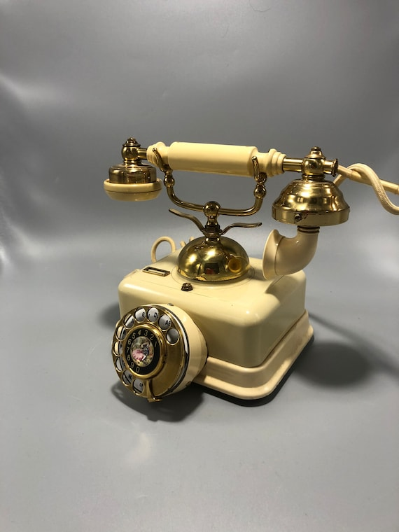 Mid-century electric dial phone 1950s circa
