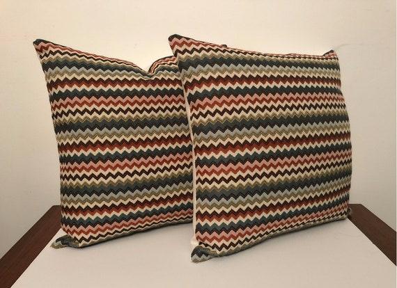 Contemporary Couture Cotton Pillows - 18 X 18