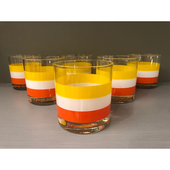 Mid-Century Lowball Cognac Glasses by Georges Briard