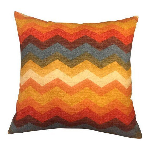 Handmade Zig Zag Shape Multi Colored Square Pillow