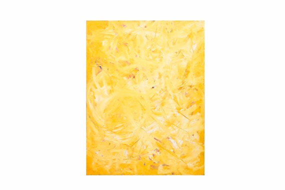 """Oil on Canvas by Bruce Mishell Titled """"Yellow"""""""