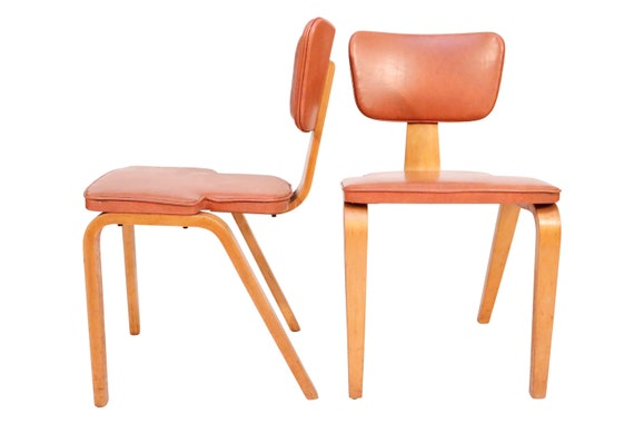 Mid century dining chairs designed by Thonet 1960's Circa.