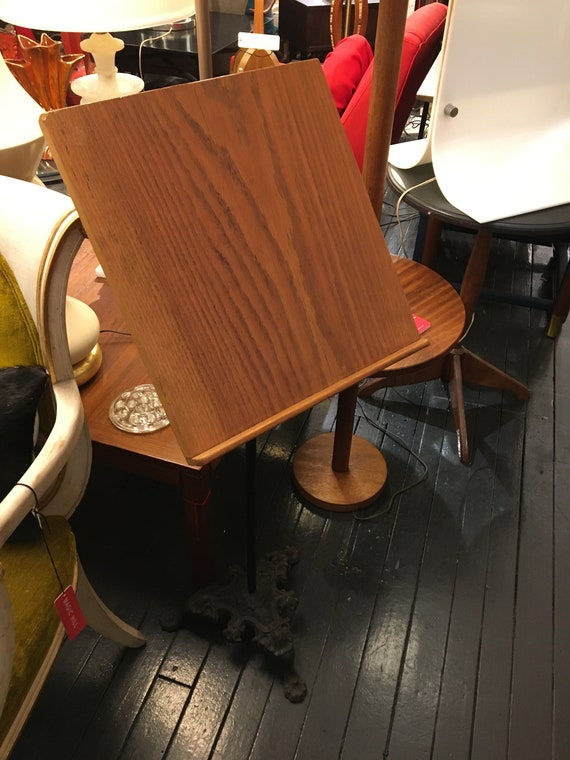 Wood and Iron Victorian Style Mid-Century Music Stand