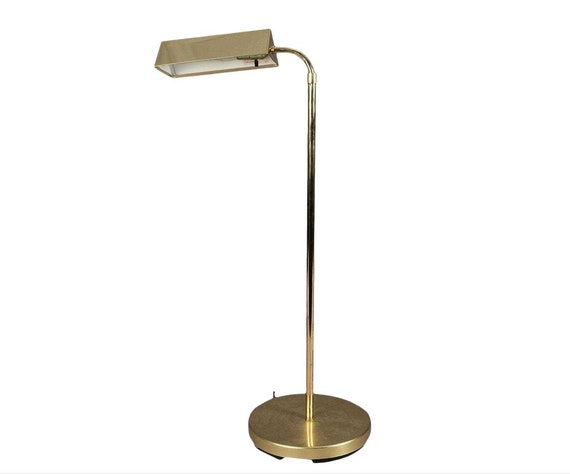 floor lamp Mid Century vintage Brass, Metal, adjustable