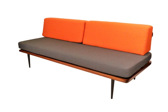 Curated mid century walnut daybed/Sofa 1960's Circa