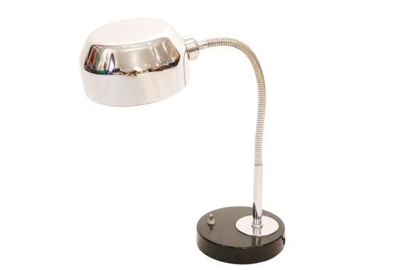 Mid-century adjustable chrome desk lamp