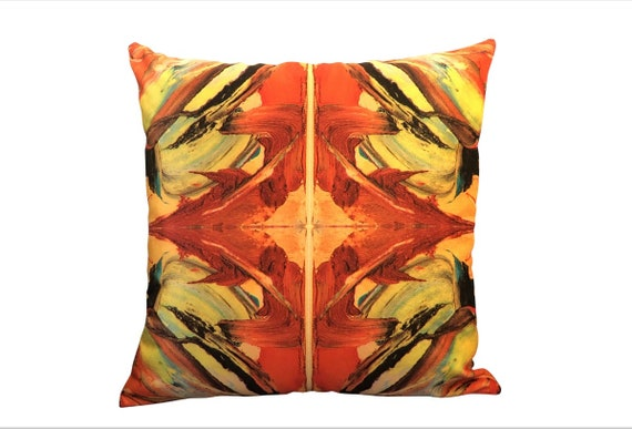 Bruce Mishell Collection Velvet & Vinyl Pillow