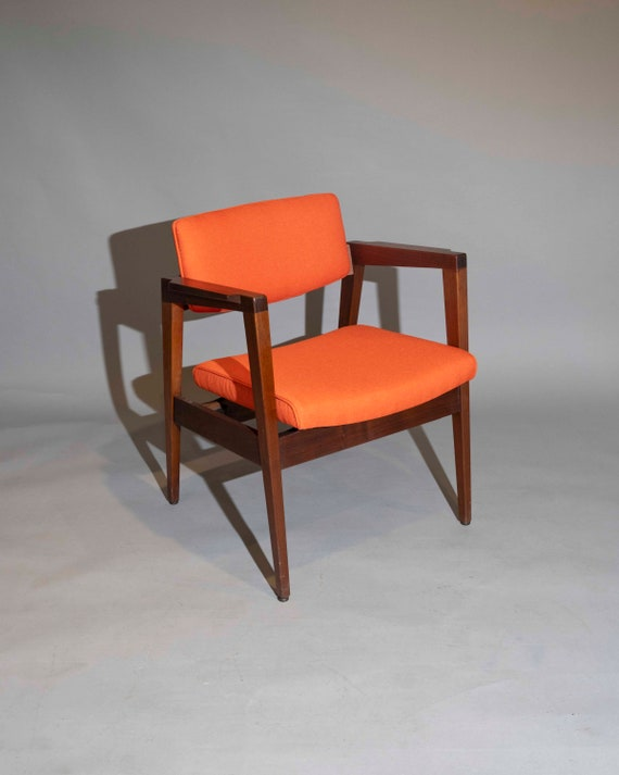 "Mid-Century curated arm lounge chair dining chair by ""Gunlock""1950's Circa"