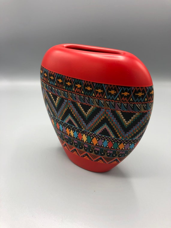 1980's Handmade ceramic Vase Designed by Austin's collections