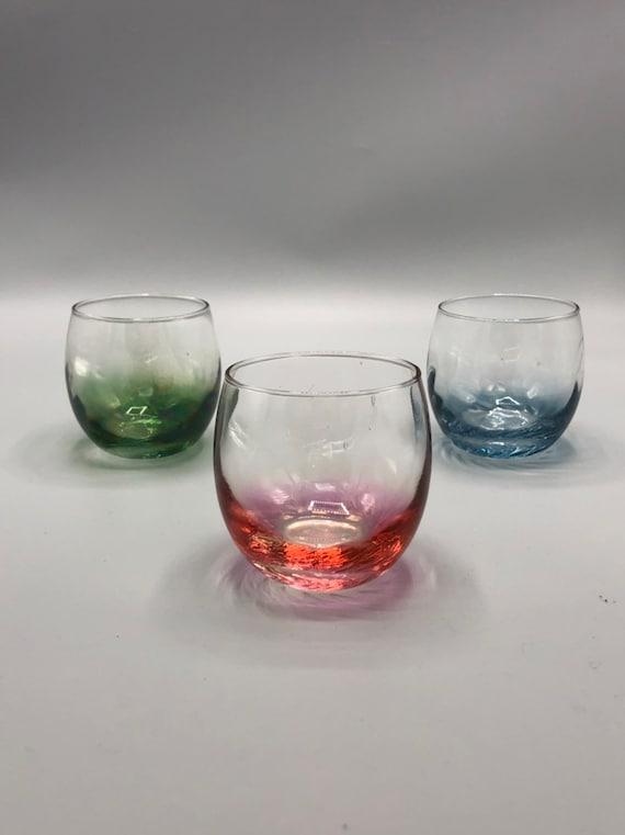 Mid century set of three wine glasses
